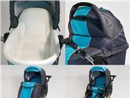 продам Тако jumper 2 в 1 зима-лето удобная коляска светло-голубая с серым, 2 в 1-лежачий короб и сидячий. состоянее хорошее. Надувные, большие колеса., Ангарск - Детские коляски