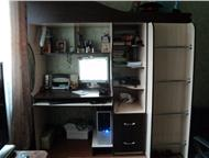 продаю детскую 3 в 1 для малогабаритной квартиры , продаю детскую:кровать-черд ак,два ящика для школьных принадлежностей, полки для книг, платяной шка, Барнаул - Детская мебель