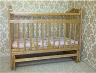 Продается детская кроватка Отечественного производства б/у, 2- режима высоты, режим маятника, матрас: гречка + кокос. Кроватка в собранном состоянии., Барнаул - Детская мебель